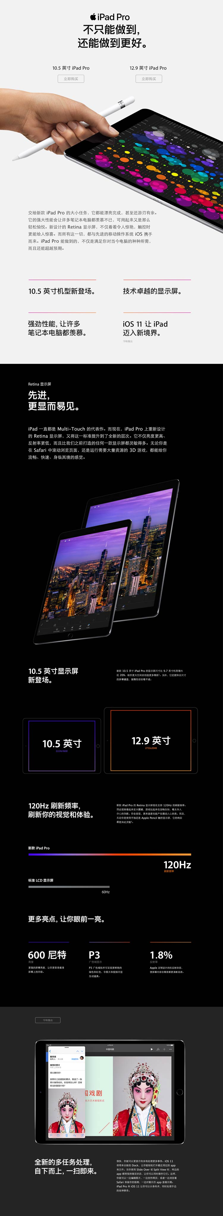 Apple iPad Pro 平板电脑 12.9英寸